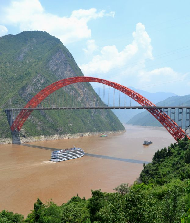 Puente del Río Wushan Yangtze (China)