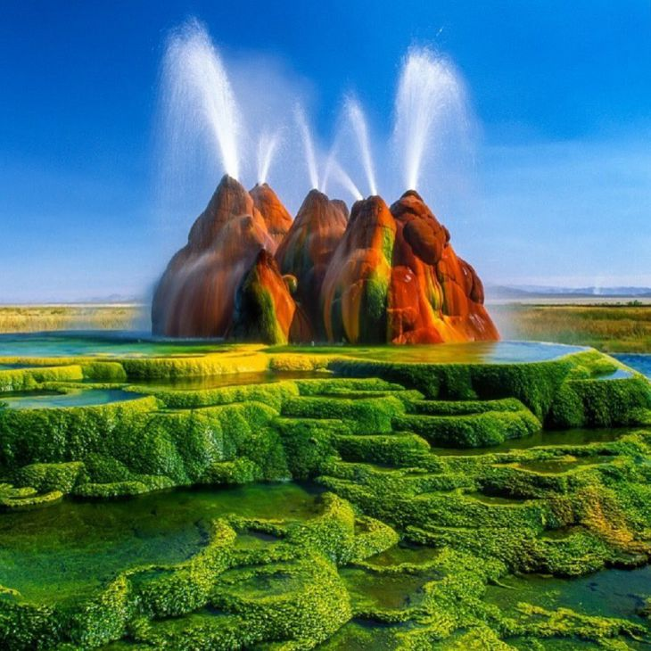 O Fly Geyser, no Nevada