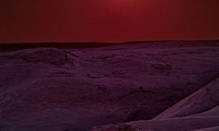Eclipse solar na reserva natural Cânion de Chelly, Arizona