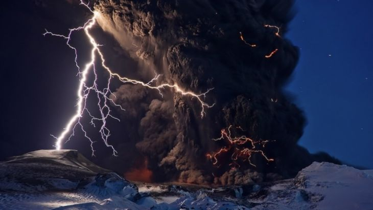 Iceland volcano going mad