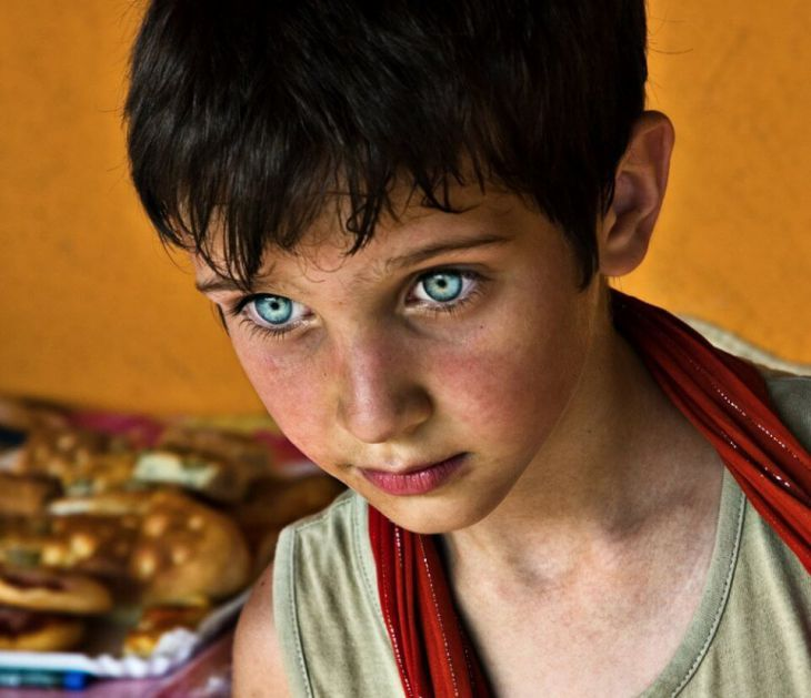 Boy with deep eyes