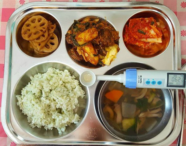 Schoollunch in Zuid-Korea