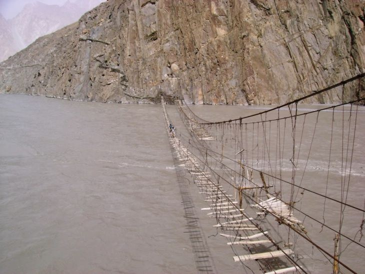 Hanging Bridge Hussaini (Pakistan)
