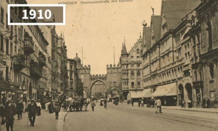 Karlstor, Munique, 1910