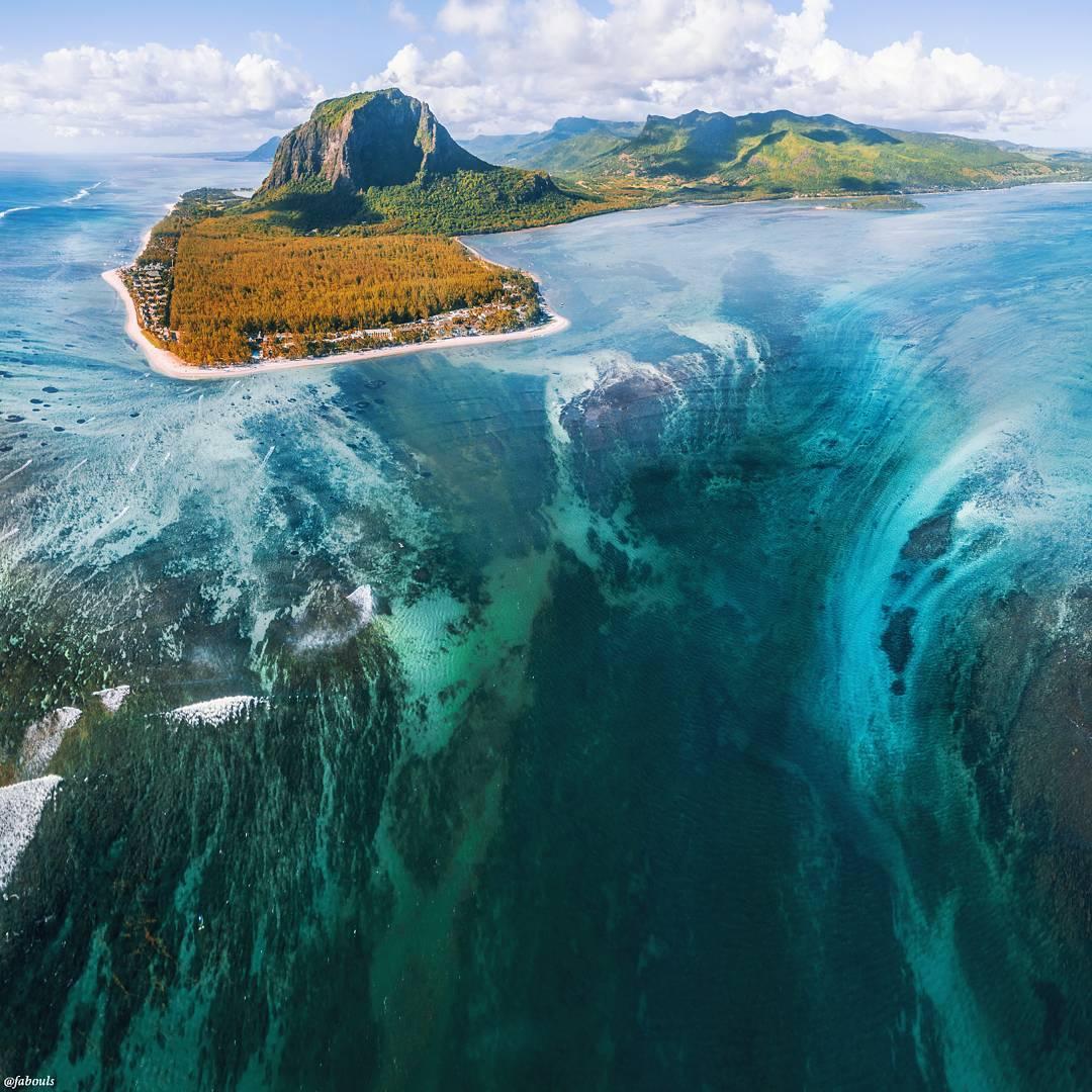 Víz alatti vízesés – Le Morne Brabant, Mauritius