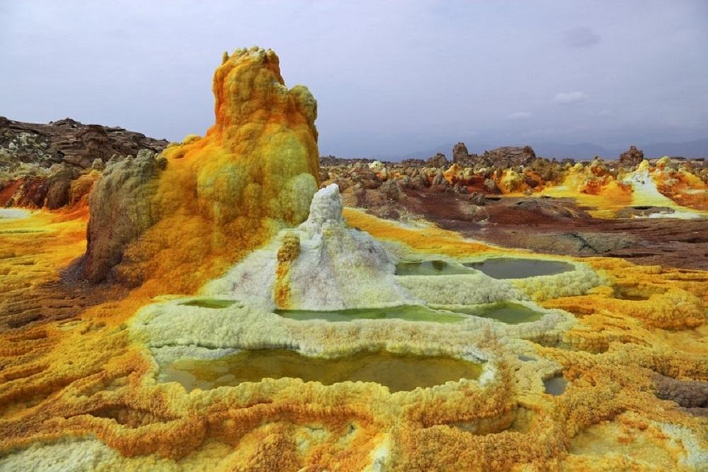 Dallol-vulkán - Etiópia