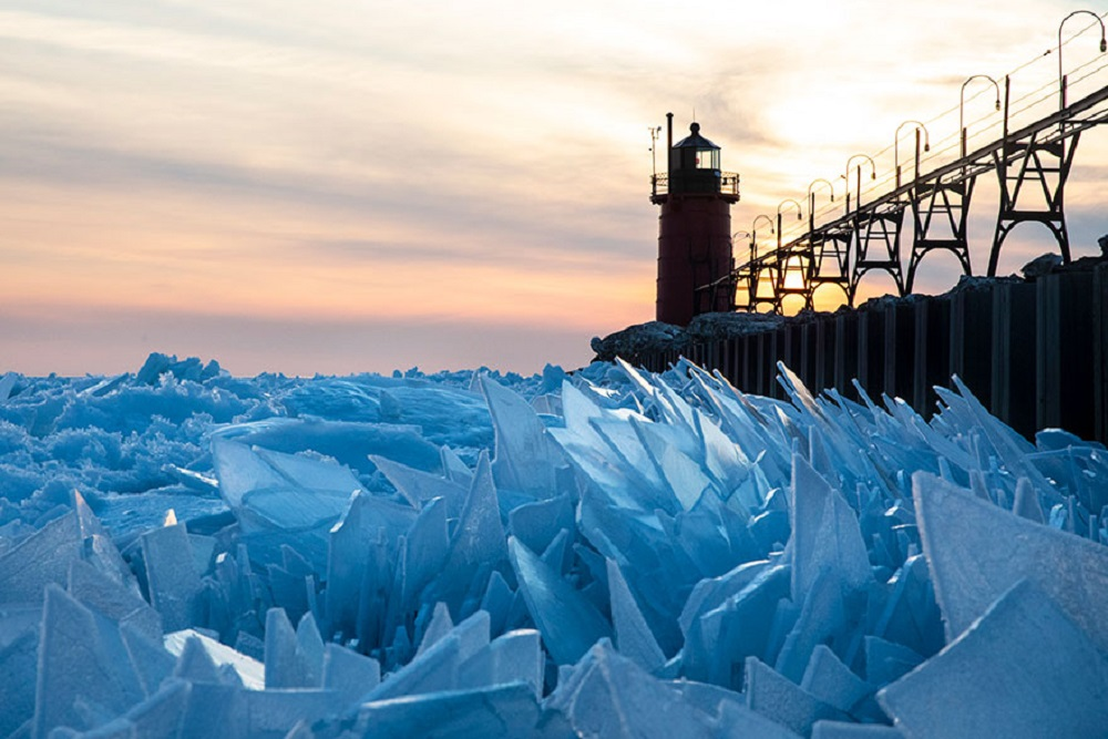 Frozen Lake Michigan