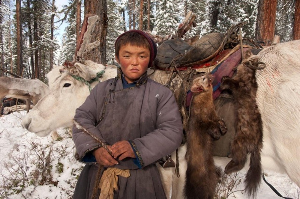 Young Mongolian boy