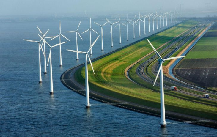 Energy stations and motorways in Holland