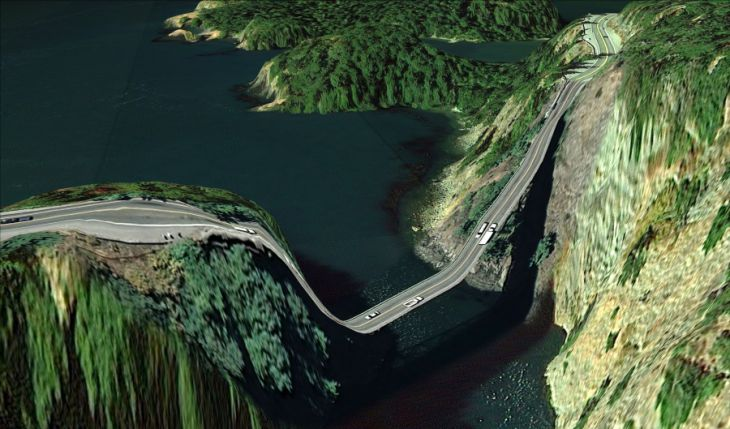 Een brug in Island County, Washington
