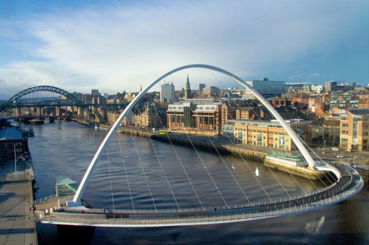 Puente del Milenio de Gateshead (Reino Unido)