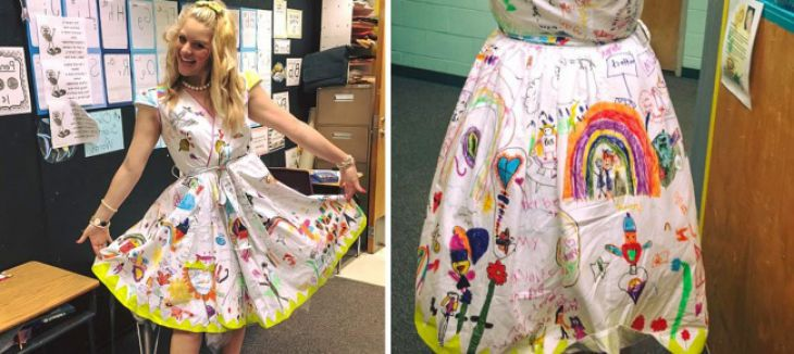 Dress from children's drawings