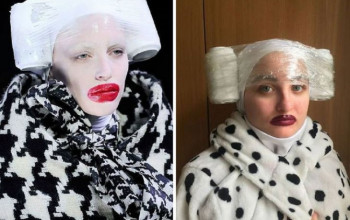 "People Are Having A Ball Recreating ""High Fashion"" from Ordinary Household Items"